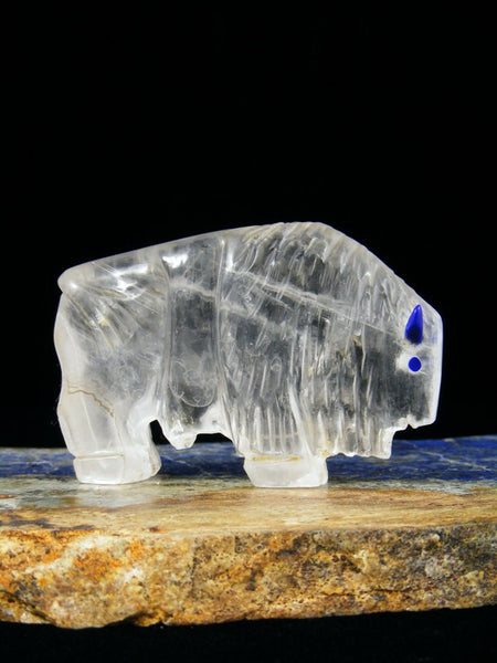Selenite Buffalo Zuni Fetish