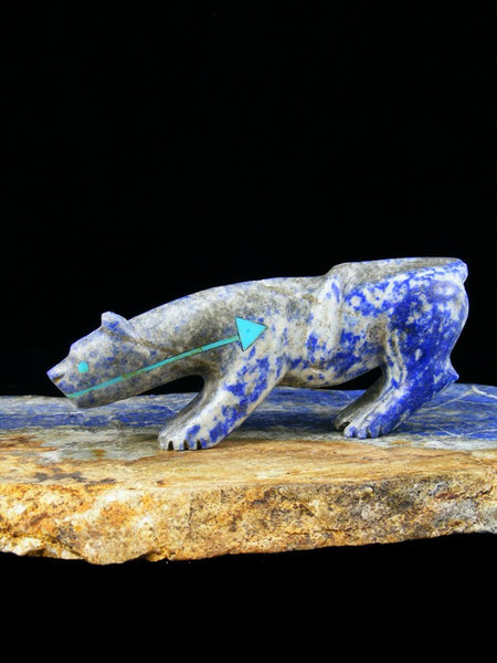 Lapis Mountain Lion Zuni Fetish