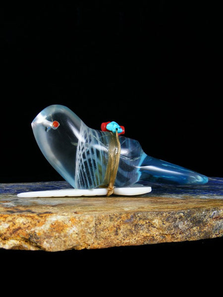 Glass Eagle Zuni Fetish