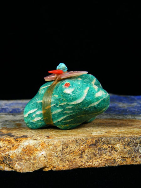 Amazonite Frog Zuni Fetish