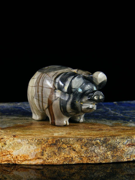 Picasso Marble Pig Zuni Fetish