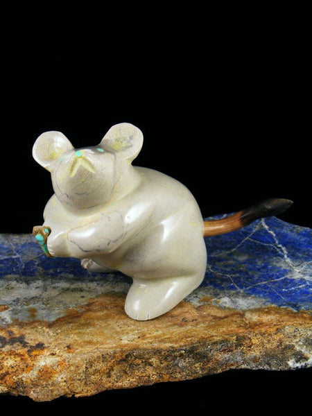 Picasso Marble Mouse Zuni Fetish Carving