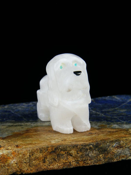 Marble Dog Zuni Fetish