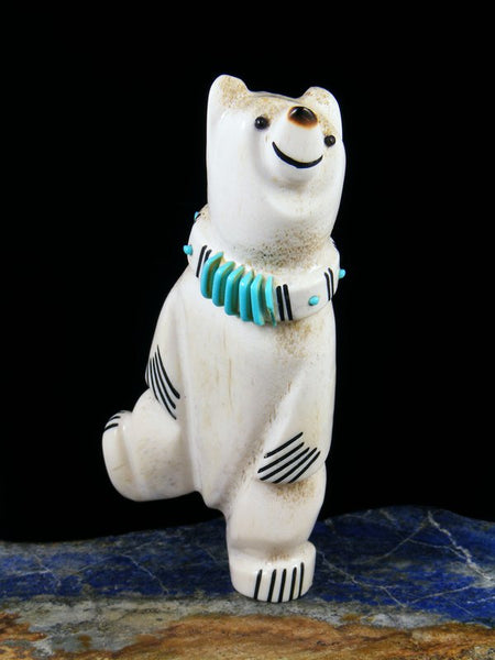 Antler Dancing Bear Zuni Fetish