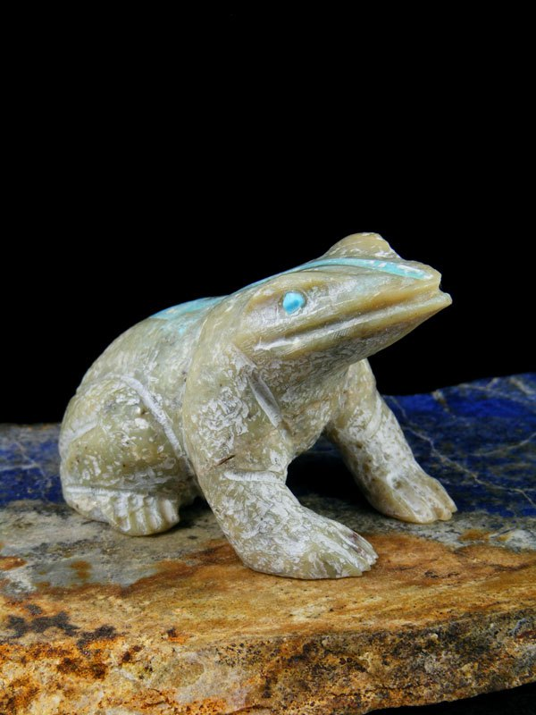 Serpentine Frog Zuni Fetish