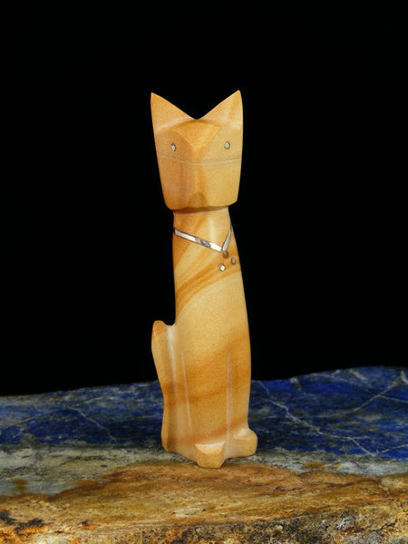 Picture Jasper Cat Zuni Fetish