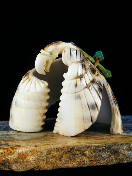 Shell Eagle Zuni Fetish