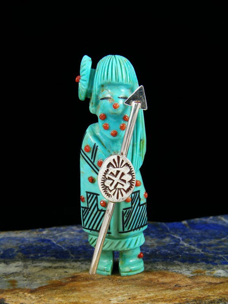 Turquoise Warrior Maiden Zuni Fetish