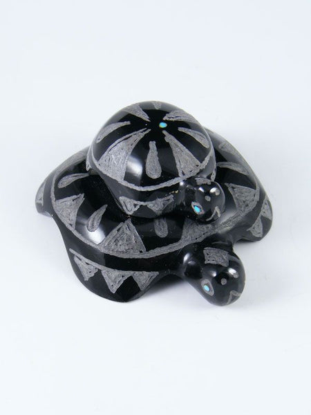 Black Marble Turtles Zuni Fetish