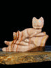 Dolomite Bobcat Family Zuni Fetish by Colin Weeka - PuebloDirect.com - 1