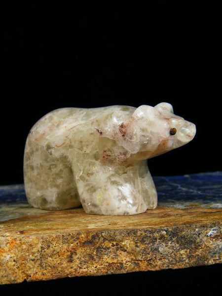 Fluorite Bear Zuni Fetish by Orin Eriacho - PuebloDirect.com - 1
