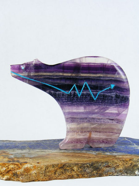 Purple Fluorite Medicine Bear Zuni Fetish