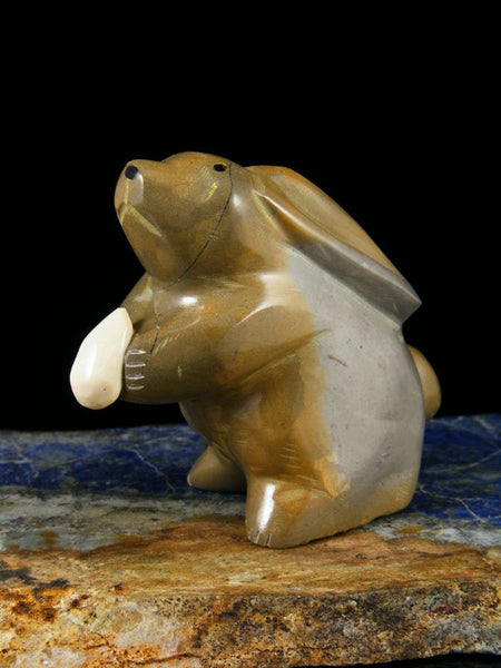 Travertine Rabbit Zuni Fetish