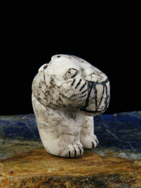 Marble Bear Zuni Fetish