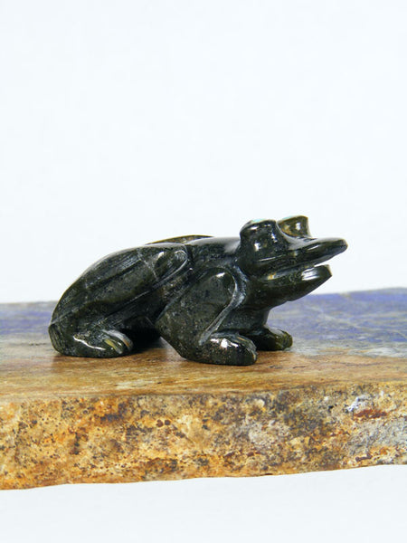 Serpentine Frog Zuni Fetish by Stanton Hannaweeke - PuebloDirect.com - 1