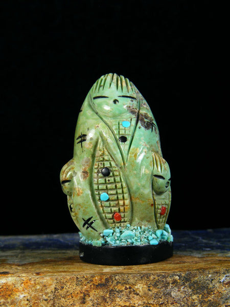 Turquoise Maiden Zuni Fetish by Chad Quandelacy - PuebloDirect.com - 1