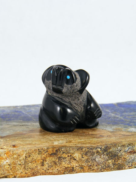 Black Marble Koala Bear Zuni Fetish