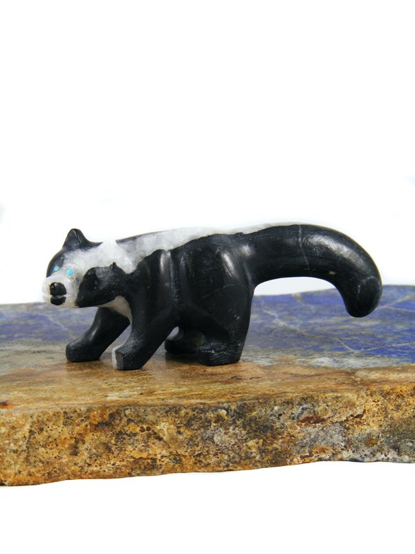 Marble Skunk Zuni Fetish