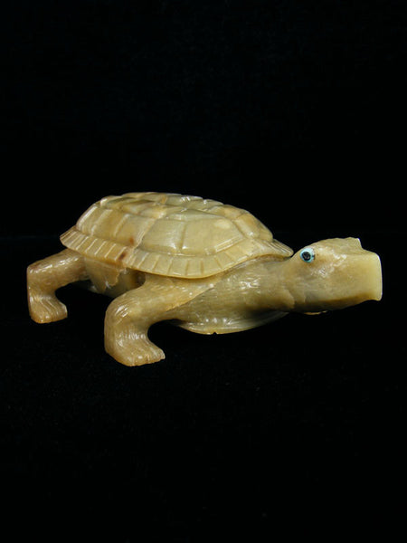 Serpentine Turtle Zuni Fetish by Glendon Lasiloo - PuebloDirect.com - 1
