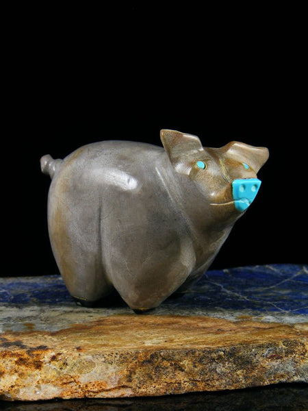 Travertine Pig Zuni Fetish