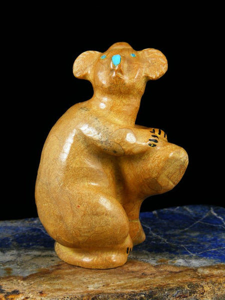 Travertine Koala Zuni Fetish Carving
