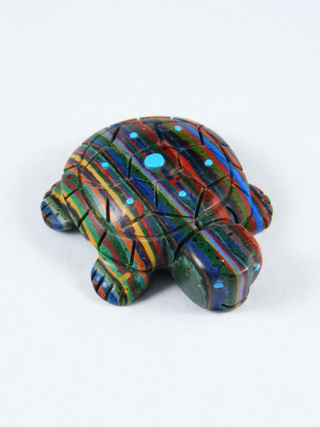 Rainbow Calsilica Turtle Zuni Fetish