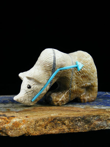Picasso Marble Bear Zuni Fetish