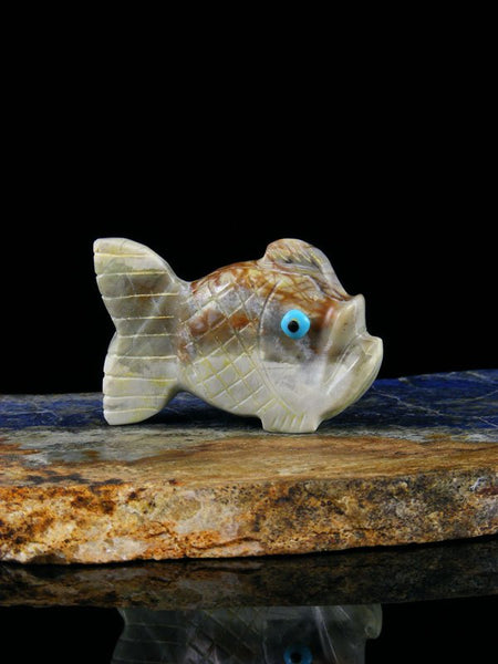 Picasso Marble Fish Zuni Fetish