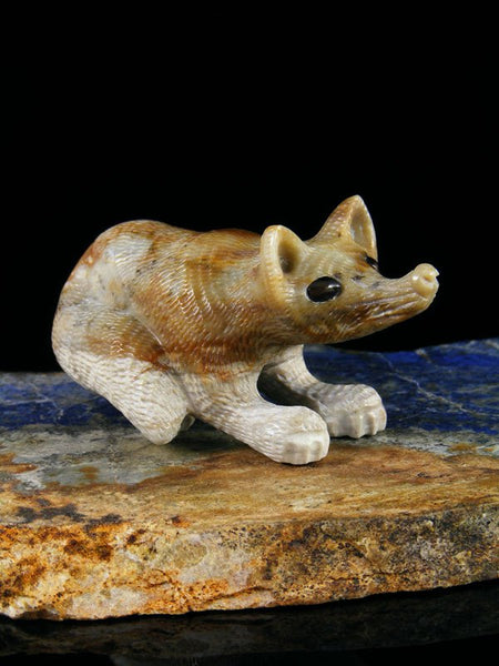 Picasso Marble Fox Zuni Fetish
