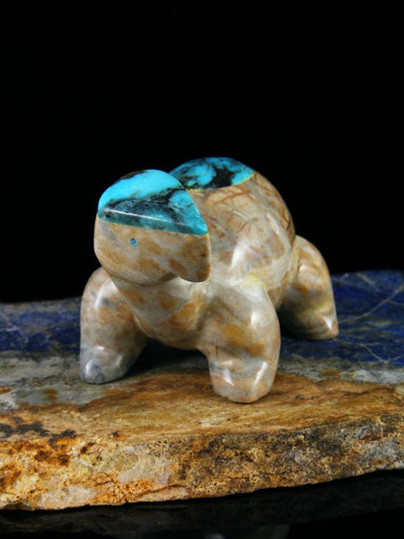 Picasso Marble Turtle Zuni Fetish