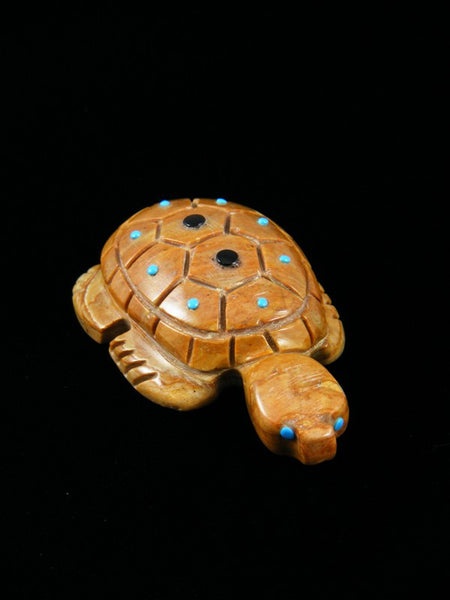 Picasso Marble Turtle Zuni Fetish Carving