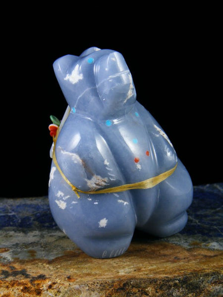 Angelite Bear Zuni Fetish