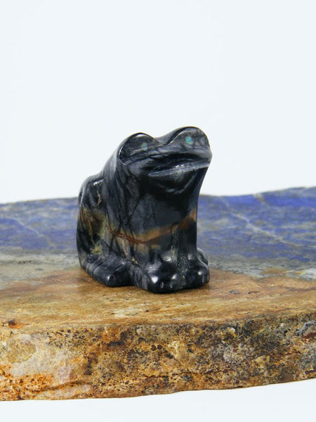 Picasso Marble Frog Zuni Fetish