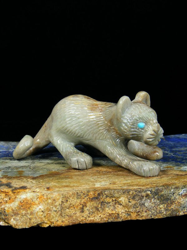 Picasso Marble Mountain Lion Zuni Fetish
