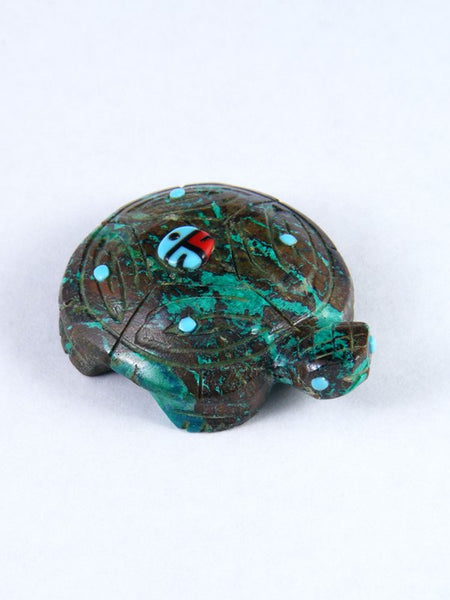 Chrysocolla Turtle Zuni Fetish