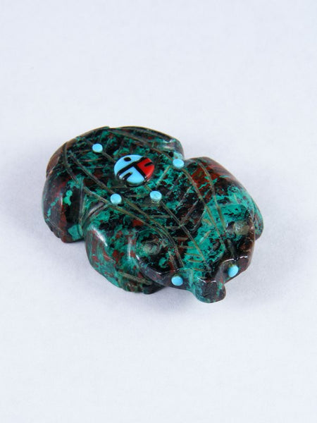 Chrysocolla Badger Zuni Fetish