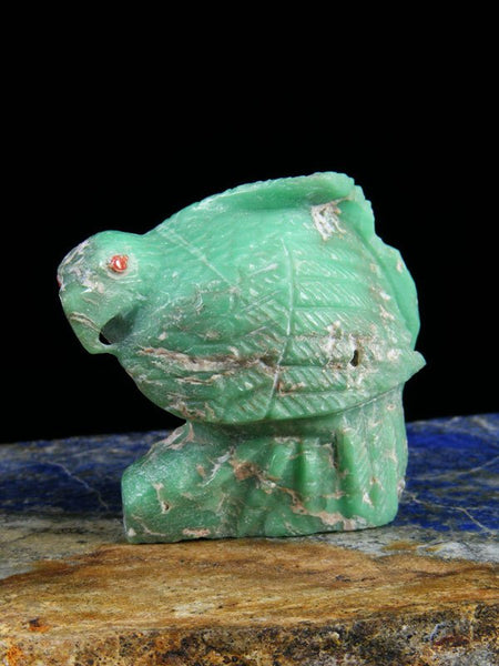 Variscite Eagle Zuni Fetish