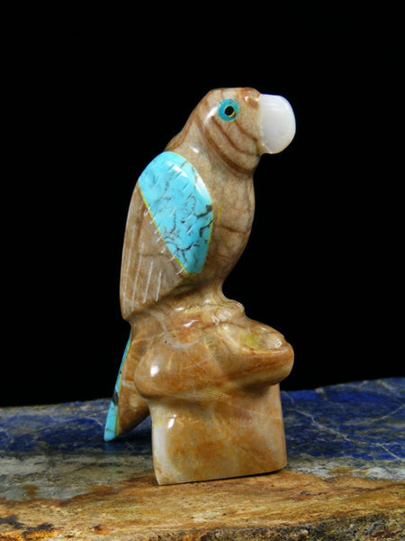 Picasso Marble Parrot Zuni Fetish Carving