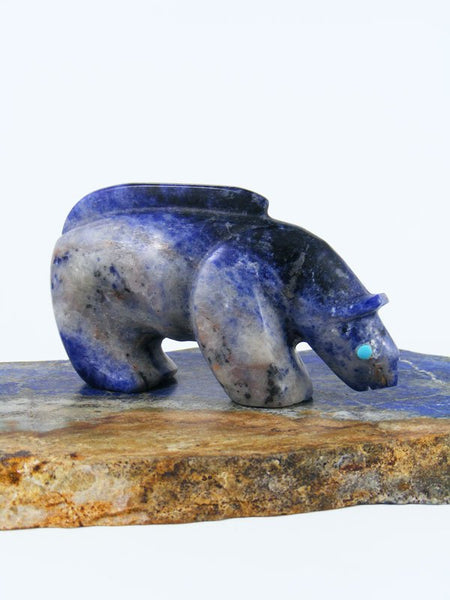 Sodalite Mountain Lion Zuni Fetish
