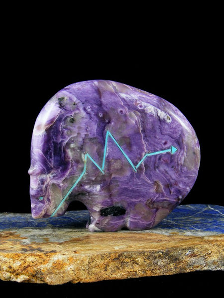 Large Charoite Medicine Bear Zuni Fetish