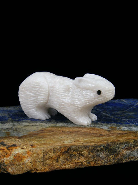Alabaster Rabbit Zuni Fetish