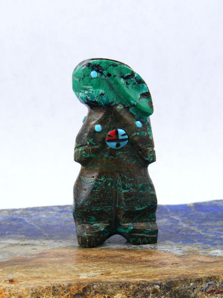 Chrysocolla Rabbit Zuni Fetish