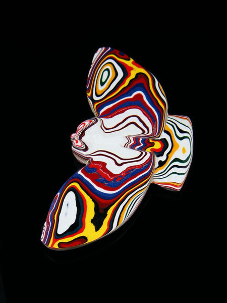 Fordite Flying Owl Zuni Fetish