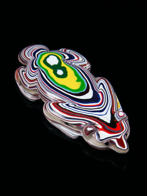 Fordite Badger Zuni Fetish
