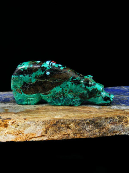 Chrysocolla Bear Zuni Fetish