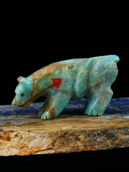 Turquoise Mountain Lion Zuni Fetish