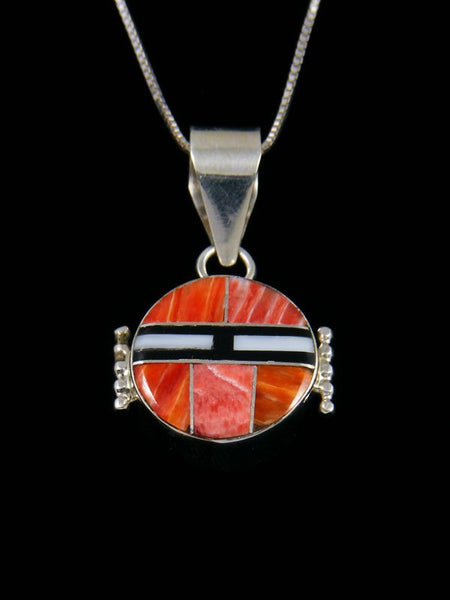Navajo Sterling Silver Reversible Inlay Kachina Pendant