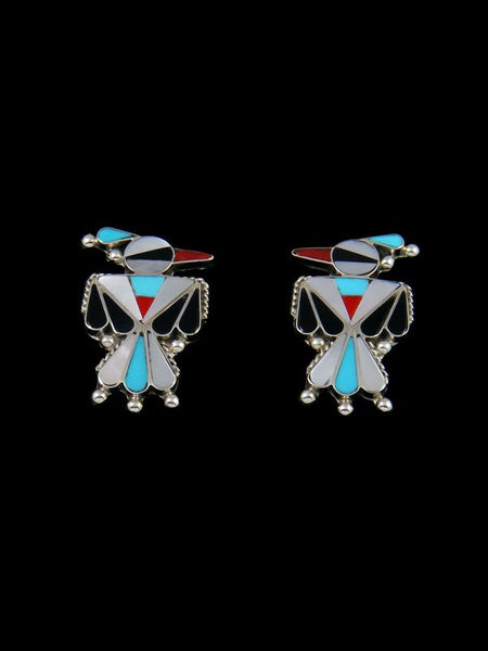 Zuni Inlay Post Thunderbird Earrings