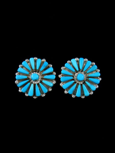 Sterling Silver Turquoise Zuni Post Earrings