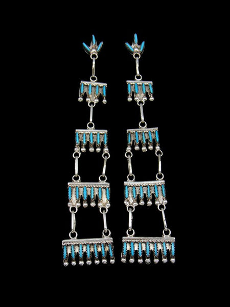 Zuni Turquoise Petit Point Post Earrings